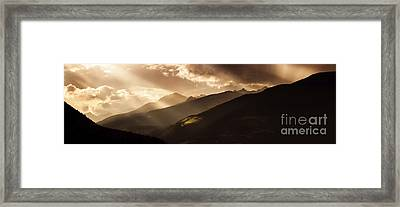 Panoramic View Of Dolomite Alps Framed Print by Evgeny Kuklev
