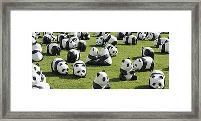 Paper Made Pandas From World Wildlife Framed Print by Panoramic Images