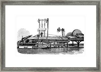 Paper Mill Framed Print by Science Photo Library