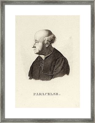 Paracelsus, Swiss Alchemist Framed Print by Science Photo Library