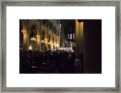 Paris France - Notre Dame De Paris - 01131 Framed Print by DC Photographer