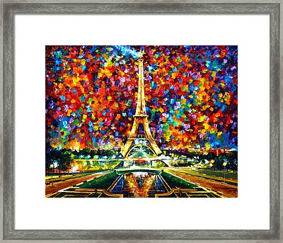 Paris Of My Dreams Framed Print by Leonid Afremov
