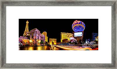 Paris On The Strip Framed Print by Az Jackson