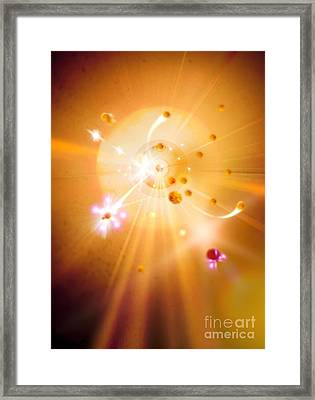 Particle Collision Framed Print by Richard Kail