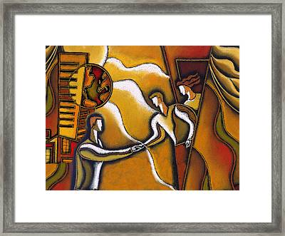 Partnership Framed Print by Leon Zernitsky