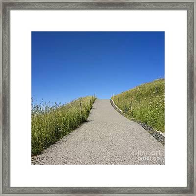 Path Framed Print by Bernard Jaubert
