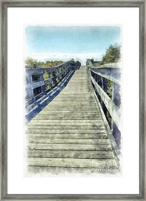 Path To The Beach Framed Print by Edward Fielding