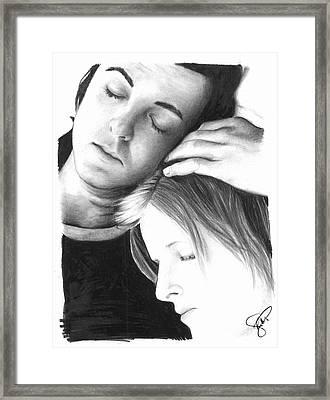 Paul And Linda Mccartney Framed Print by Rosalinda Markle