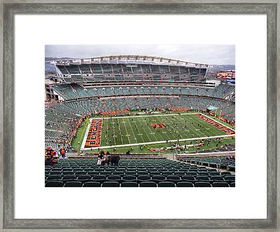 Paul Brown Stadium Framed Print by Dan Sproul