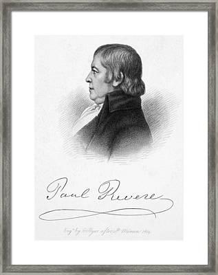 Paul Revere (1735-1818) Framed Print by Granger