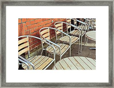 Pavement Cafe Framed Print by Tom Gowanlock