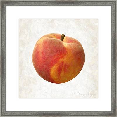 Peach Framed Print by Danny Smythe