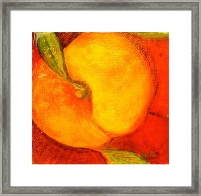 Peachy Framed Print by Debi Starr