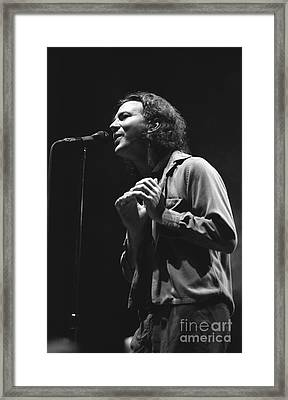 Pearl Jam Framed Print by Front Row  Photographs