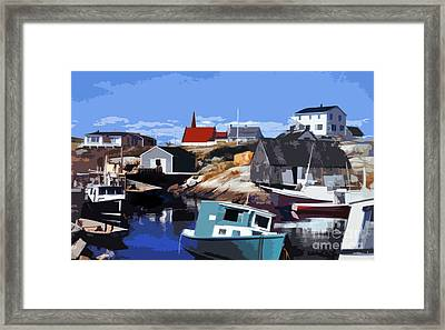 Peggy's Cove Framed Print by Lydia Holly