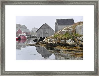 Peggy's Cove Nova Scotia Framed Print by Wendy Elliott