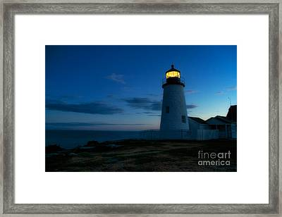 Pemaquid Point Lighthouse Bristol Maine Framed Print by Mel Ashar