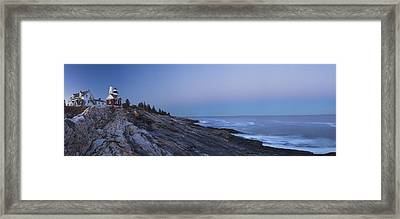 Pemaquid Point Lighthouse On The Maine Coast Framed Print by Keith Webber Jr