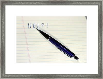 Pen Help Framed Print by Henrik Lehnerer