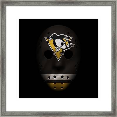 Penguins Jersey Mask Framed Print by Joe Hamilton