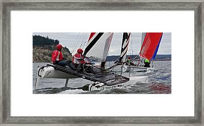 Penn Cove Regatta Framed Print by Steven Lapkin