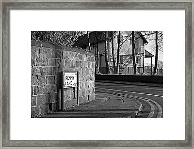 Penny Lane Liverpool Uk Framed Print by Ken Biggs