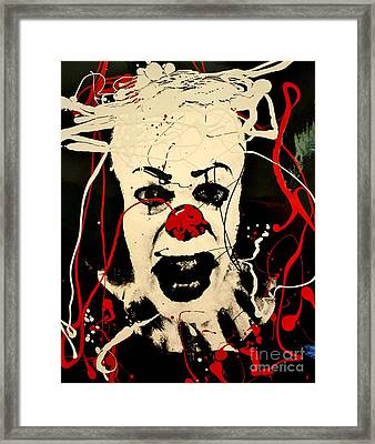 Pennywise The Dancing Clown Framed Print by Michael Kulick