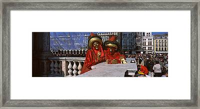 People In Traditional Costumes Framed Print by Panoramic Images