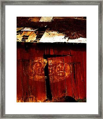 Pepsi Barn Framed Print by Ron Regalado
