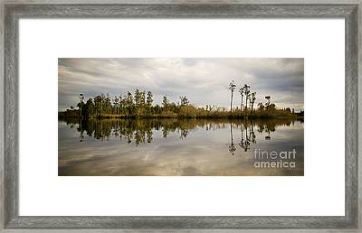 Perfect Lake Framed Print by Tim Hester