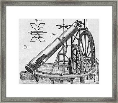 Perpetual Motion Machine Of Von Kranach Framed Print by Middle Temple Library