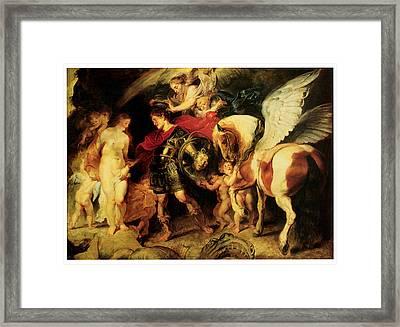 Perseus Liberating Andromeda Framed Print by Peter Paul Rubens