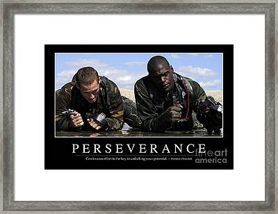 Perseverance Inspirational Quote Framed Print by Stocktrek Images