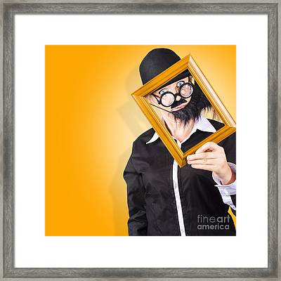 Person Setting Their Social Media Profile Picture Framed Print by Jorgo Photography - Wall Art Gallery