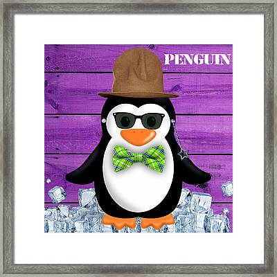 Peter Penguin Collection Framed Print by Marvin Blaine