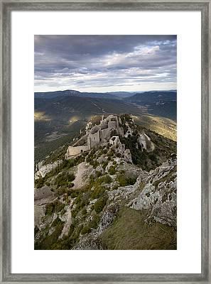 Peyrepertuse Castle Framed Print by Ruben Vicente