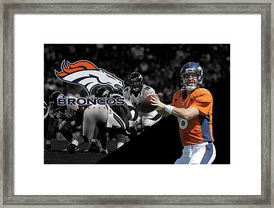 Peyton Manning Broncos Framed Print by Joe Hamilton