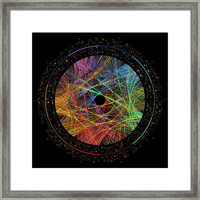 Phi Transition Paths Framed Print by Martin Krzywinski