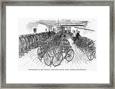 Philadelphia Bicycle Club Framed Print by Granger