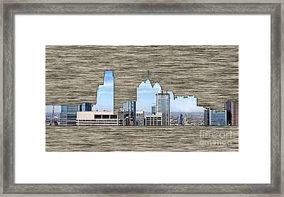 Philadelphia Skyline Framed Print by Marvin Blaine