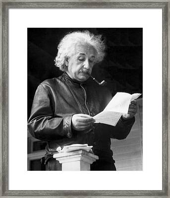Physicist Albert Einstein Framed Print by Underwood Archives