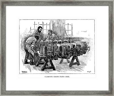 Piano Manufacture, 1901 Framed Print by Granger