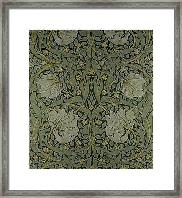 Pimpernel Wallpaper Design Framed Print by William Morris