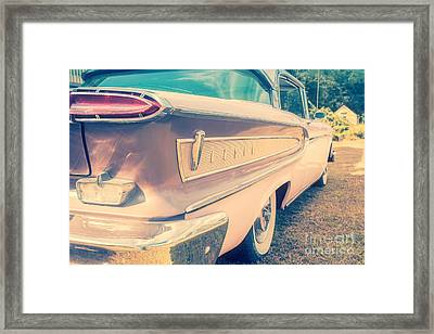Pink Ford Edsel  Framed Print by Edward Fielding
