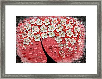 Pink Impression Framed Print by Mariana Stauffer