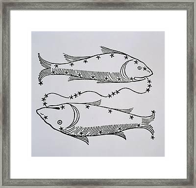 Pisces Framed Print by Italian School