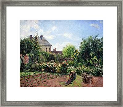 Pissarro's The Artist's Garden At Eragny Framed Print by Cora Wandel