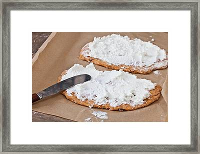 Pizza Bases Framed Print by Tom Gowanlock