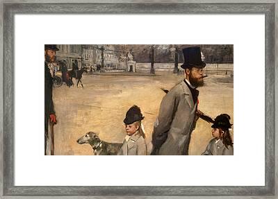 Place De La Concorde Framed Print by Edgar Degas