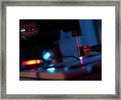 Plasma-assisted Desorption Ionisation Framed Print by Andrew Brookes, National Physical Laboratory